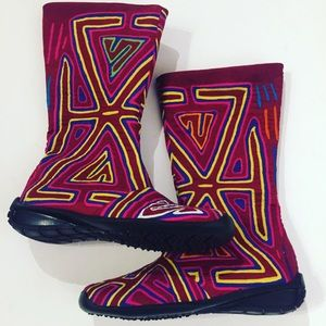 Shoes - Mola boots Colombian new 7 made by Kuna tribe
